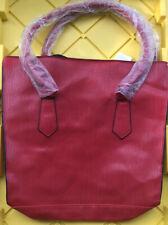 Elizabeth Arden Red Tote Textured Faux Leather Handbag Bag New