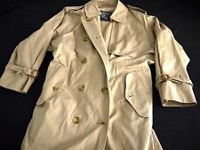 BURBERRY women's Double Breasted belted Trench Coat Beige US 4P 4 Petite