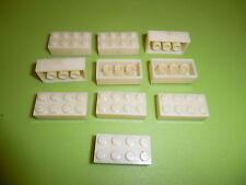 LEGO: Bayer 10 test pietre test Brick/Milky pure ABS/8xf