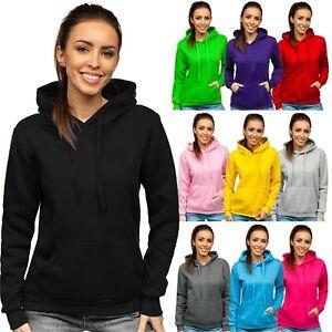 Kapuzenpullover Sweatshirt Pullover Hoodie Langarmshirt Damen BOLF Unifarben