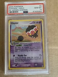 Pokemon - 2004 Claydol #2 - Holo - EX Hidden Legends - PSA 10 Gem Mint