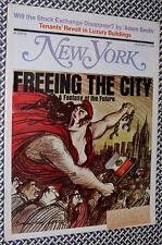 1970 New York Magazine, NYC FUTURE FANTASY, Tenants' Revolt, Wall Street