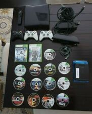Microsoft Xbox 360 S + Kinect + 3 Controllers + Tv Remote + 15 Games +20gb Hdd