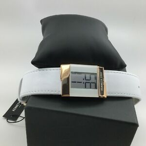 KENNETH COLE WHITE ROSE GOLD TONE WHITE LEATHER BAND DIGITAL WATCH KCC0168004(1)