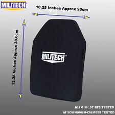 MILITECH Bulletproof Plate NIJ III+/NIJ 0101.07RF2 Alumina Ballistic Armor Panel