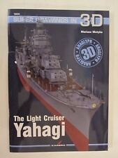 Kagero Book: The Light Cruiser Yahagi - 3D Color Illustrations, Line Drawings