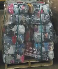 Pallet of 25 lb. Compressed Bag of Colored T-Shirt Rags (40 bags - 1,000 LBs)
