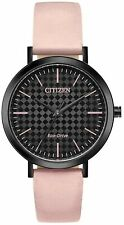 Citizen Eco Drive Ladies Funky Watch Pink Leather Strap EM0765-01E UK Seller