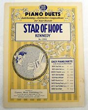 """SHEET MUSIC ' STAR OF HOPE PIANO DUETS """" NOT DATED"""