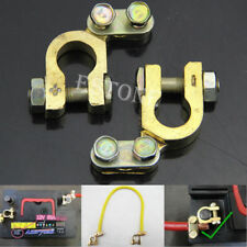 2Pcs Auto Car Replacement Battery Terminal Clamp Clips Brass Connector