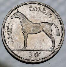 1942 Ireland  Halfcrown Silver Coin KM# 16 aUNC ++Lustre