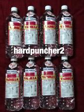 8 Bottles Danncy Mexican Vanilla (Clear) One Liter Bottles