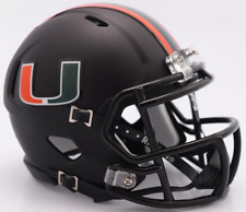 MIAMI HURRICANES NCAA Riddell SPEED Mini Football Helmet