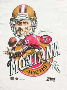 Vintage Joe Montana Caricature 90's NFL Football San Francisco 49ers  T Shirt