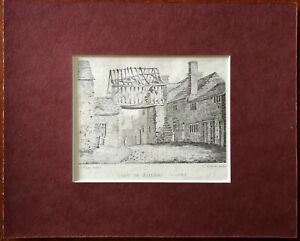 E. Dayes Delint View of Jailers Chapel Vintage Print Engraved by R. Newman