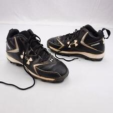 UNDER ARMOUR Hammer Athletic Spike Shoes Football Cleats Leather Mens 8