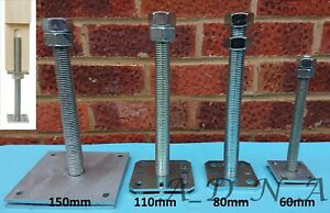 HEAVY DUTY GALVANISED/STAINLESS ELEVATED ADJUSTABLE POST FITTING SUPPORT / BASE