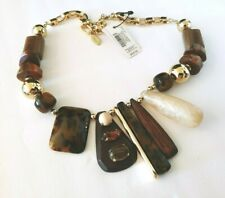 STUNNING ESTATE NEW Chico's statement Necklace Retail $69 Nwts tortoise shell