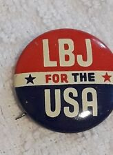 """LBJ for the USA  political campaign Button 1964 1"""" Pin- lot of  10"""