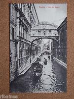 R&L Postcard: Venice, Venezia, Bridge of Sighs, Ponte dei Sospiri, Italy Gondola