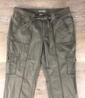 St John's Bay Roll Up Roll Down Olive Army Green Pants 16 Women's NWOT