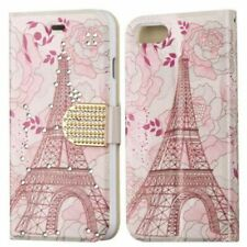 APPLE IPHONE 8/7 MYBAT MYJACKET EIFFEL TOWER WALLET CASE W/DIAMANTE BELT
