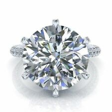 Near White Forever Round Cut 5 .68 Ct Good Engagement Ring 925 Sterling Silver