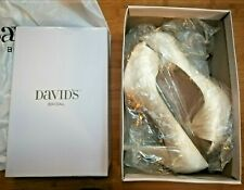 Davids Bridal Authentic Ivory Color Wedding Shoes Size 10 Diana Charm High Heel