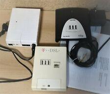 DeTeWe TA33 Clip - ISDN-Terminaladapter + T-ISDN NTBA + Siemens T-DSL Splitter