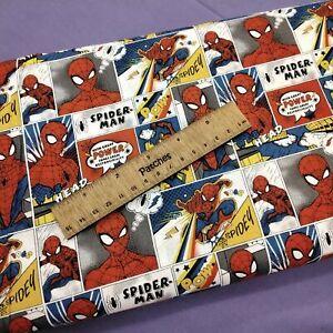Spiderman Comic Strip 100% Cotton Fabric Craft Cushion Bunting