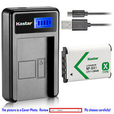Kastar Battery LCD Charger for Sony NP-BX1 & Sony Cyber-shot DSC-WX350 Camera