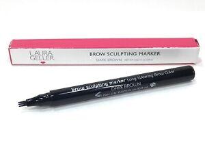 Laura Geller Long-Wearing Brow Sculpting Marker *Dark Brown* Tri-Tip New in Box