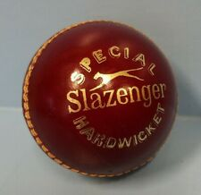 Vintage Slazenger Hardwicket Cricket Ball Australia Hide Leather 5 1/2 oz nice