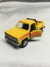 TOMICA No. F44 CHEVROLET TRUCK YELLOW W/FLAMES MADE IN JAPAN  DOORS OPENS