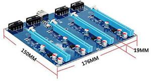 Riser Expansión 1 a 4 puertos PCI Express x16 BTC Mining ETH