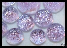 Lot of 6 XS TWINKLE LAVENDER Fused Glass DICHROIC Cabs NO HOLE Beads Flat Back