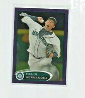 FELIX HERNANDEZ (Seattle Mariners) 2012 TOPPS CHROME PURPLE REFRACTOR CARD #116