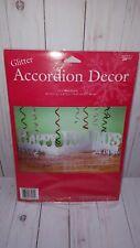 Happy Holidays Christmas cardboard Glitter accordian decor tabletop silver