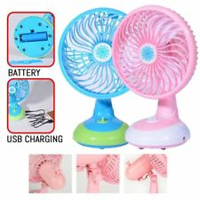 Portable Free Angle & Spin Electric USB Mini Fan Rechargeable Battery