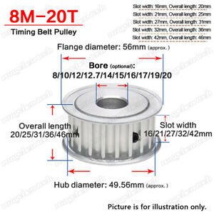 HTD 8M Timing Pulley Idler 20T without Bearing 5mm Pitch for 15/20/25/30mm Belt
