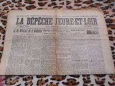 Journal - La Dépêche d'Eure-et-Loir n° 8057, 18-19/01/1925
