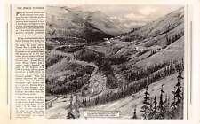 British Columbia Canada Spiral Tunnels Trains Real Photo Antique Postcard K54870