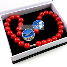 One Piece Ace Red Beads Necklace Cosplay Accessory