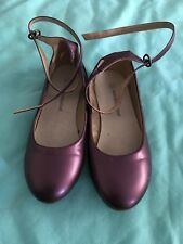 Girls Vertbaudet Purple Leather Shoes Size 1( 33) New Other rrp £28