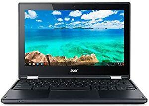 """Acer Chromebook C738T NX.G55AA.005;C738T-C44Z 4 GB DDR3L 11.6"""" Laptop - Black"""