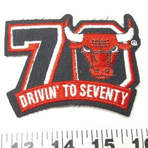 Chicago Bulls Drivin to Seventy NBA Basketball Patch VTG Vintage