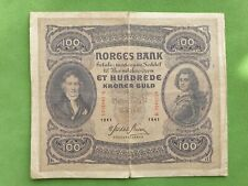 Banknote from Norway 100 kroner 1941