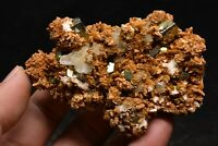 118g Natural iridescent Pyrite Calcite Cube Arsenic Crystal Cluster China
