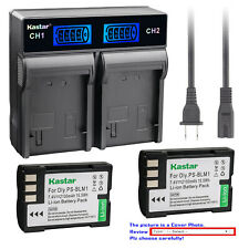 Kastar Battery LCD Rapid Charger for Olympus BLM-1 BLM01 Camedia C5060 Wide Zoom