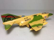 """F-4 Phantom Aircraft/Fighter,Navy Military,Pull Back to Go,7"""" Diecast Toy Yellow"""